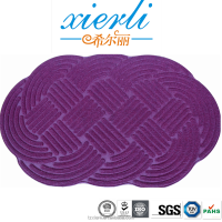 Cloud shaped water absorbent floor mat