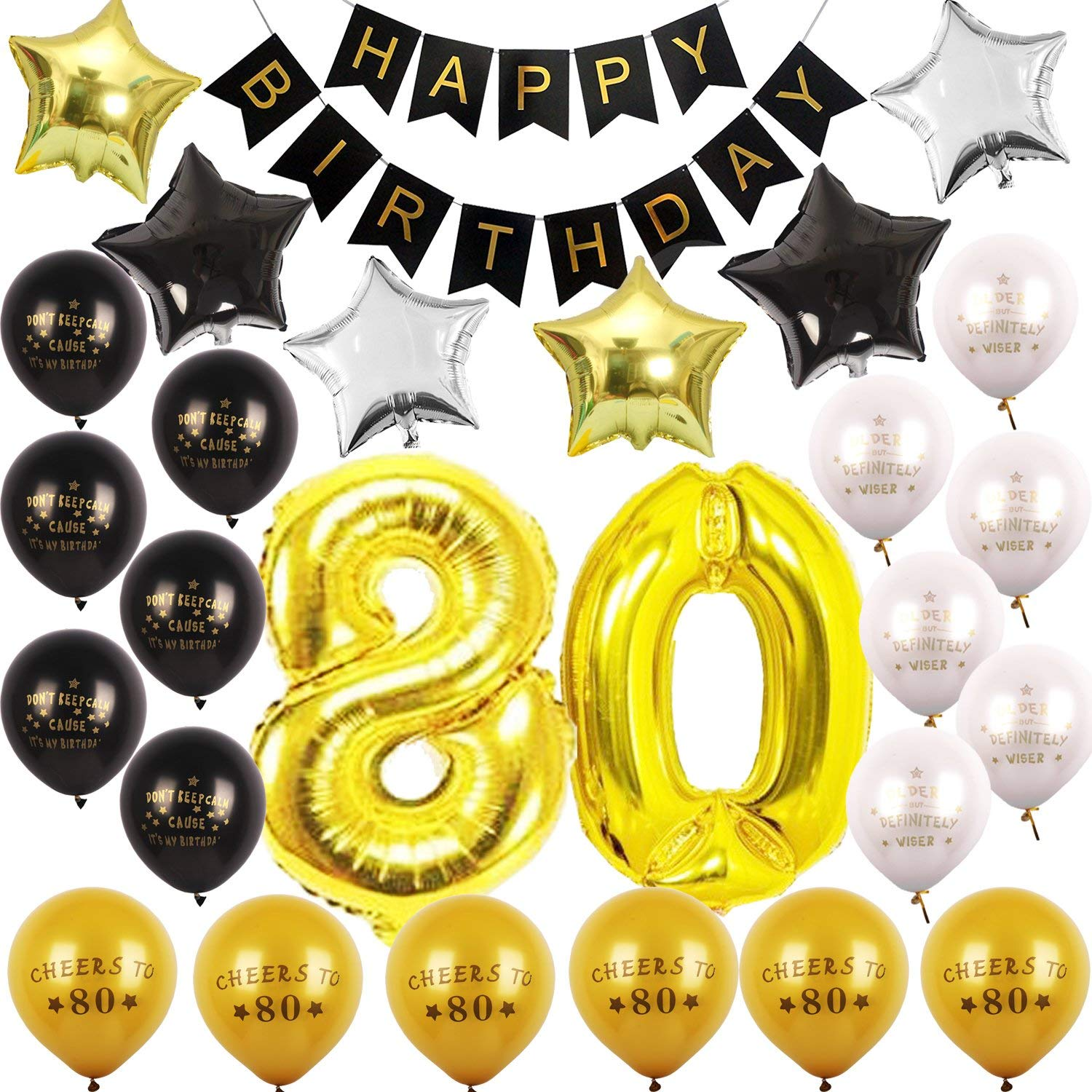 Get Quotations 80th BIRTHDAY PARTY DECORATIONS KIT