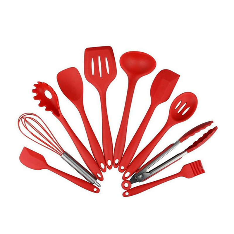 Cunite FDA 10 stuks Hittebestendige Keukengerei, Siliconen keuken gebruiksvoorwerp, Vaatwasmachinebestendig Siliconen Keuken Gebruiksvoorwerp Set