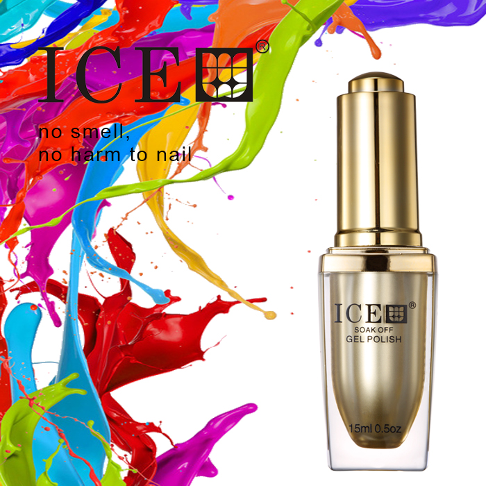 ICE 4 pcs gel nail polish UV Top Coat UV Base Coat Foundation for uv gel