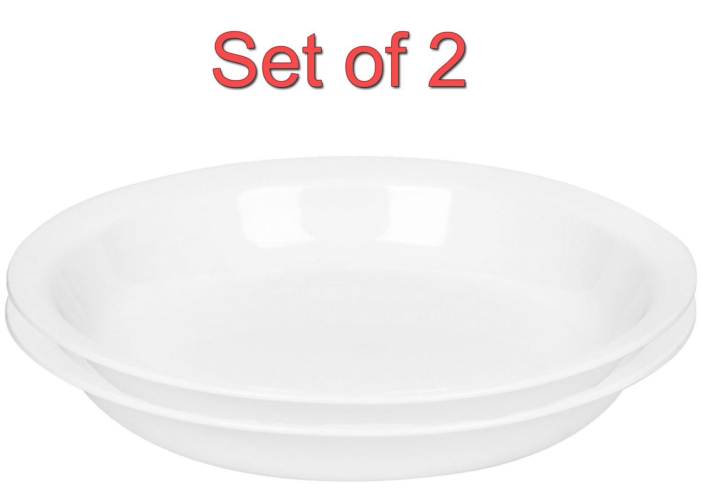 4 Pack Corelle Livingware 9-Inch Deep Dish Pie Plate Winter Frost White
