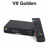 v8 Golden hd digital tv decoder DVB-S2+T2+Cable Signal Support Satellite Receiver V8 Golden in stock