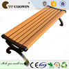 Wood and metal material and outdoor furniture general use cast aluminum benches