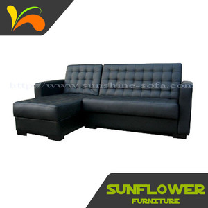 Leather Furniture Modern Corner Sofa Bed Furniture With Store Box