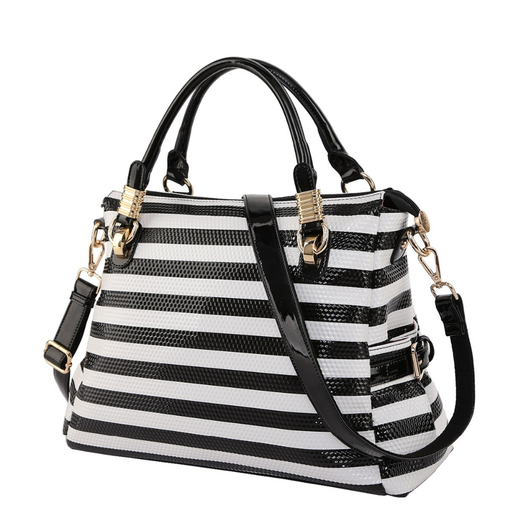 1358f872bbee Black And White Striped Shoulder Bag 90