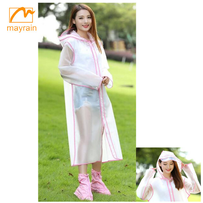 2018 New Fashion Environmental PE/PEVA/EVA Material rain poncho raincoat