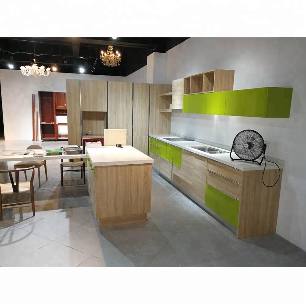 Showroom Sample Open Shelf Kitchen Cabinets Flat Pack Kitchen Furniture -  Buy Open Shelf Kitchen Cabinets,Flat Pack Kitchen Furniture,Open Kitchen ...