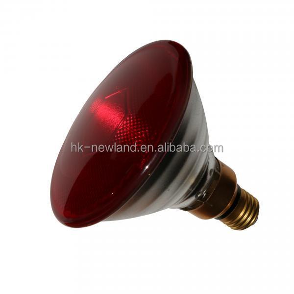Lámpara de infrarrojos 250 vatios calor lámpara infrarrojos pera bombilla infrarrojos luz roja