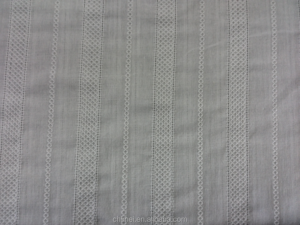 White color cotton leno-like cloth 100% cotton jacquard fabric