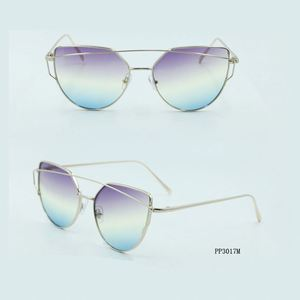 Factory sale superior quality young lady style tri-colored UV400 sunglasses