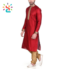Custom kurta collar designs for men Pathani kurta image shalwar kameez designs Indian red long line t shirt