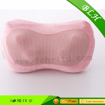 Mini massage pillow cushion with shiatsu kneading function and heating