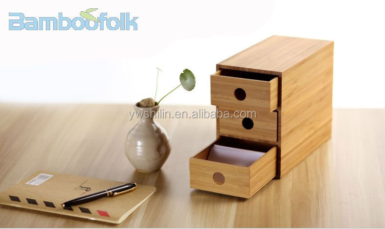Bureau En Bambou Boîte De Rangement/Bambou Boîte De Rangement De Bureau/ Boîtes De
