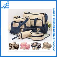 5 pcs Baby Changing Diaper Nappy Bag Tote Mummy Mother Multifunctional Handbag