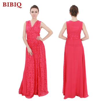 2017 Elegant Red Dress Long Plus Size Women Clothing Ball Gown Prom