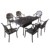 6 Seater Easy Installation Metal Cast Aluminum Dining Table and Chair Outdoor Garden Furniture Set
