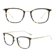 Newest high end acetate unisex optical frames with metal temples fashinon model eyeglasses in stock metal nose pad