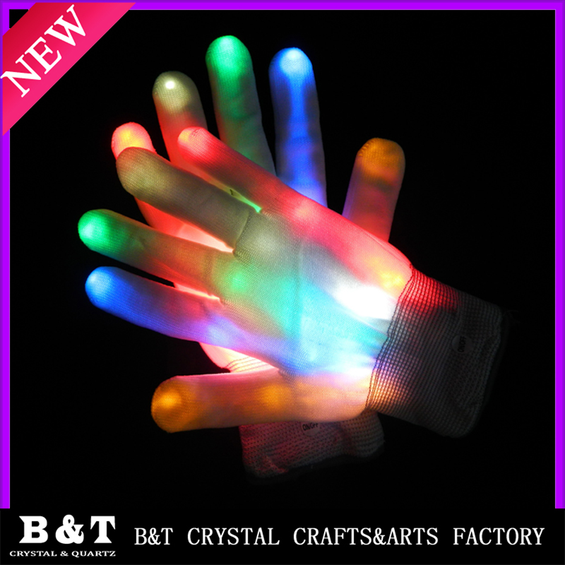 LED Colorful Flashing Finger Lighting Gloves for Light Show