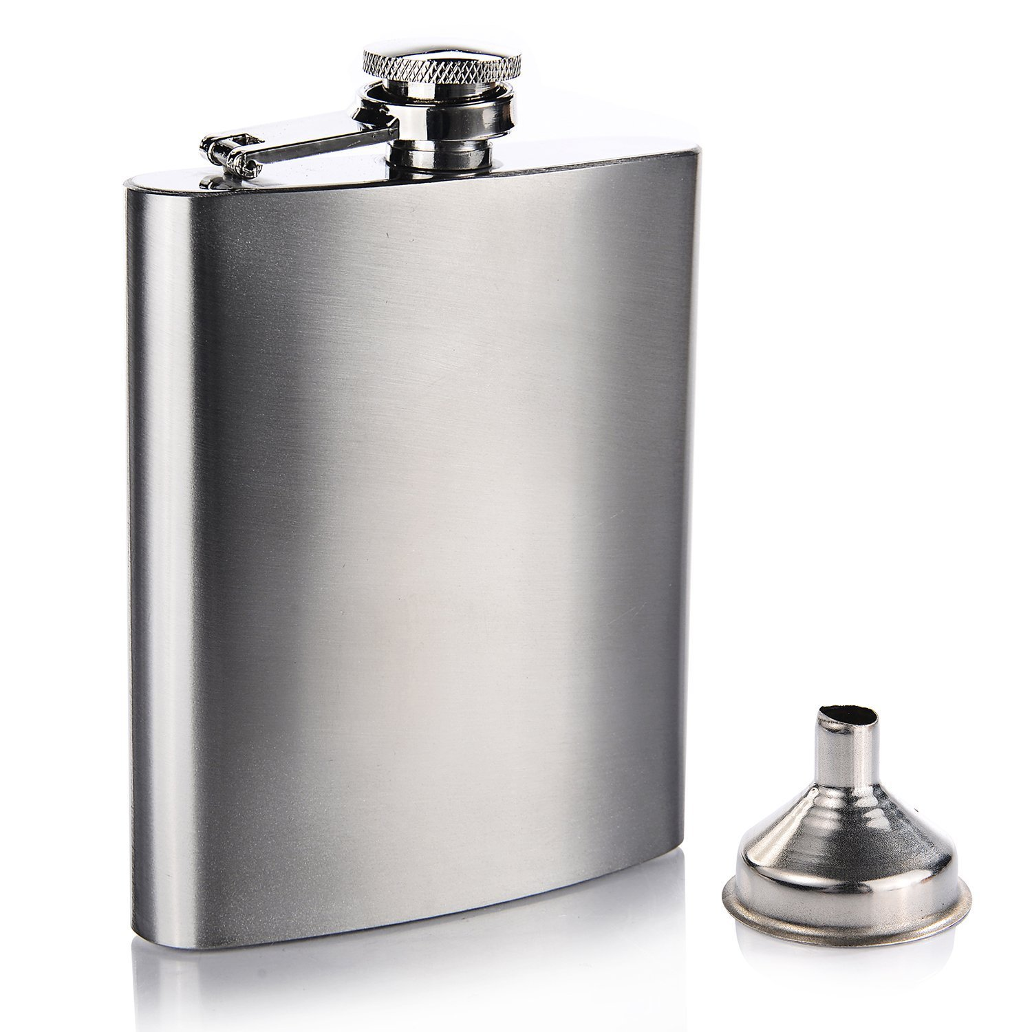 Stainless Steel Hip Flask and Funnel Set, 7 oz - Leak Proof
