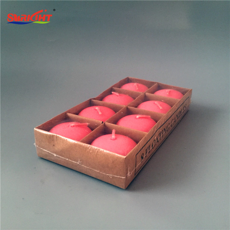 Pink Paraffin Wax 2018 New Floating Candle Packing