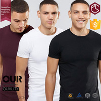 Hongxiong mens saw muscle 100%cotton high quality o neck short sleeve blank colorful t shirt manufacturer bangladesh