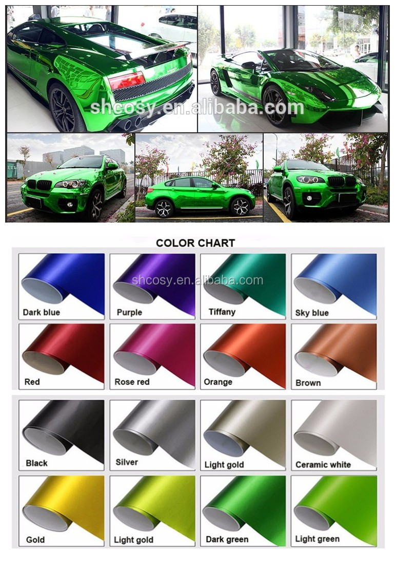Top Quality Glossy Matte 1 52 30m Chrome Vinyl Car Wrap Film