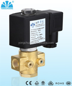 YCSM52 normally open direct acting brass water air 24v solenoid valve