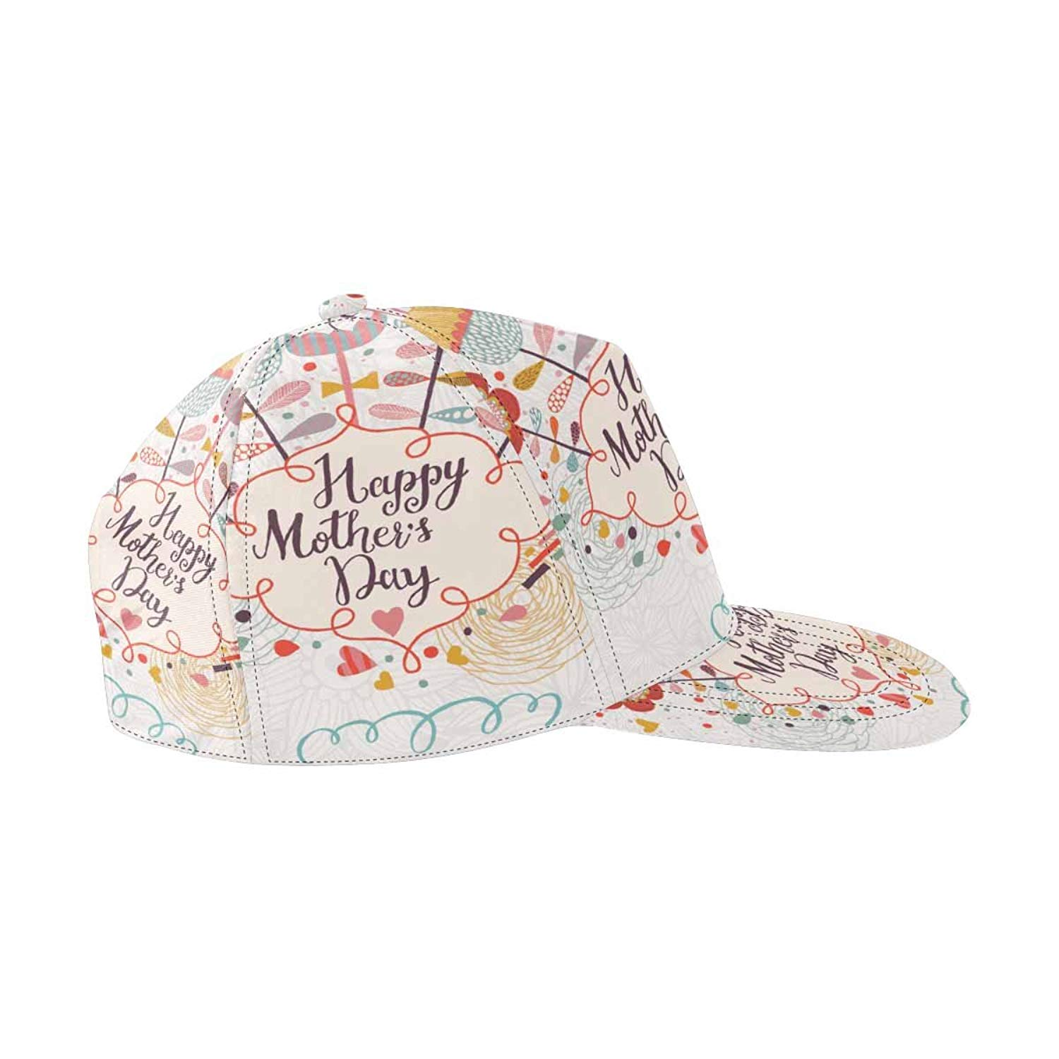 e64c30146f1 Get Quotations · InterestPrint Happy Mothers Day in Cartoon Style Snapback  Hats for Men Hip Hop Hats Flat Brim