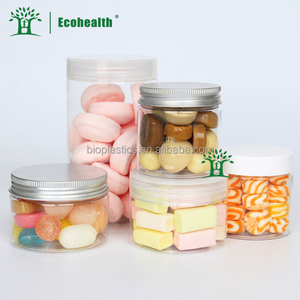 500ml 1000ml BPA Free Clear Pla Dry Food Storage Jars with Caps