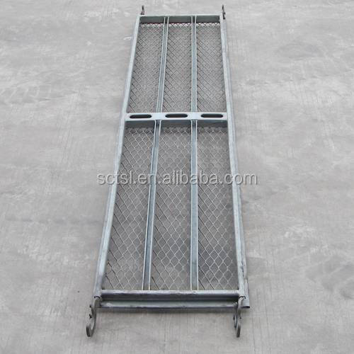 Galvanized/painted scaffolding mesh decking plank used for construction