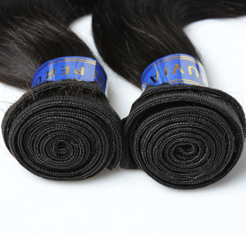 Free Shipping Length 20 22 24 18 Inch Peruvian Virgin Hair Bundles With Lace Closure