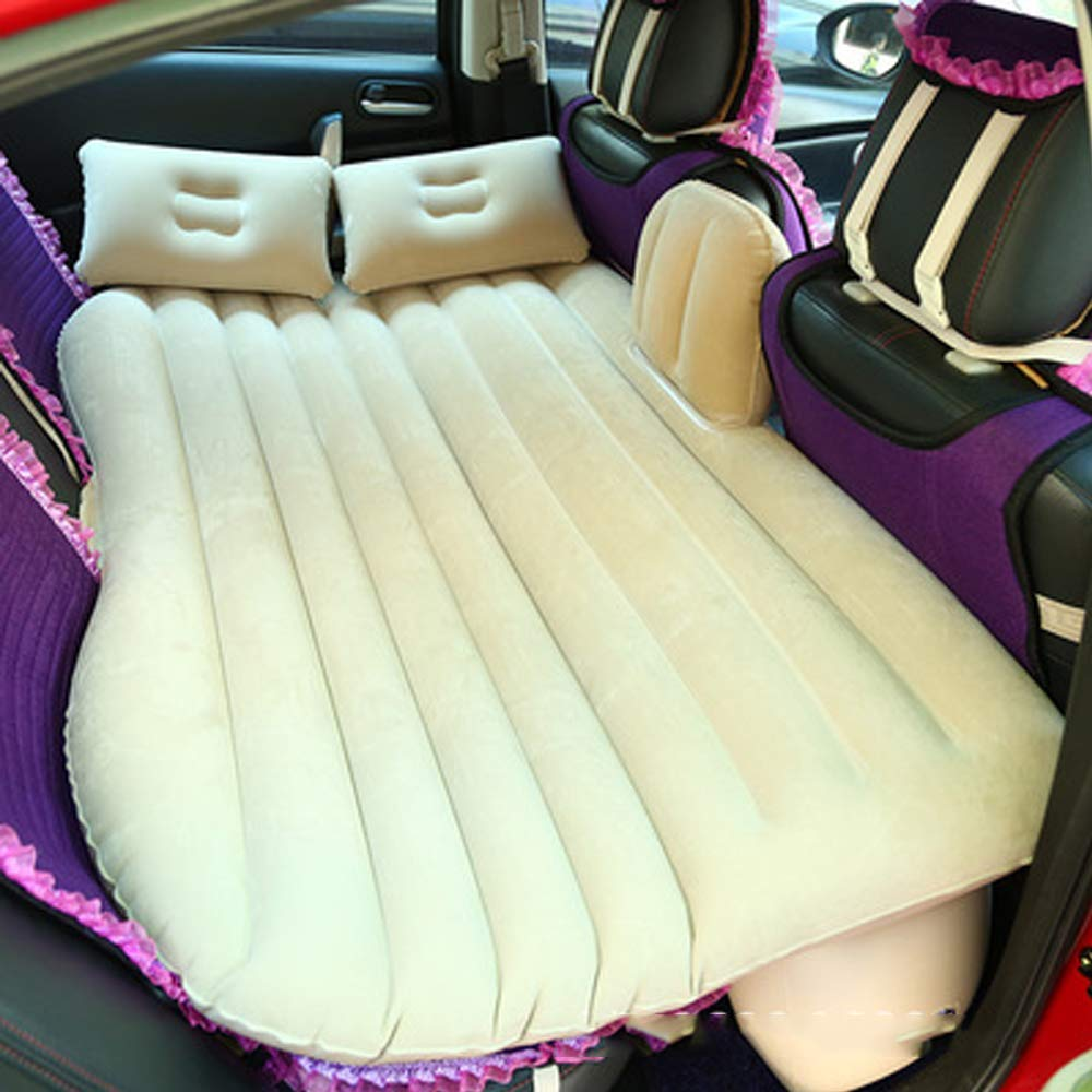 YHJM Car Inflatable Bed Car Supplies Mattress Rear Travel Bed Car Rear seat SUV Sleeping pad Air Cushion Car Bed