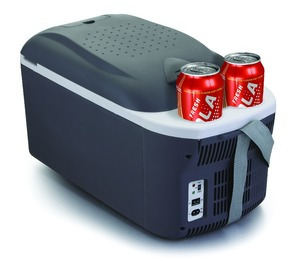 nice themo electric outdoor camping DC12V-AC110-230V cooler box mini Portable car Fridge with two holder 16L ErP class A+