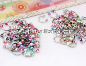 New Style 16g Horseshoe Circular Lip Eyebrow Bars Body Piercing