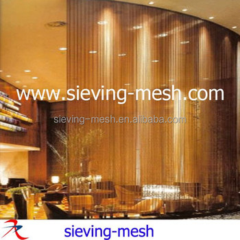 Woven Metal Wire Curtains HangingCeiling Metal Hanging Curtains