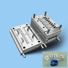 medical injection mould tooling for 2 way parallel connector with clamp