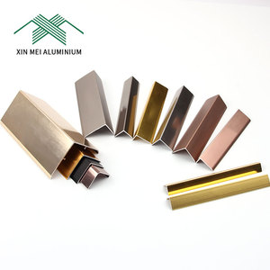 Wholesale Alibaba Cheap Brushed Brown Curved Tile Edge Trim