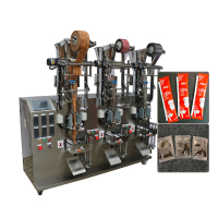 Automatic multi line packing machine , sugar coffee salt packing machine granule packing machine MY-630K