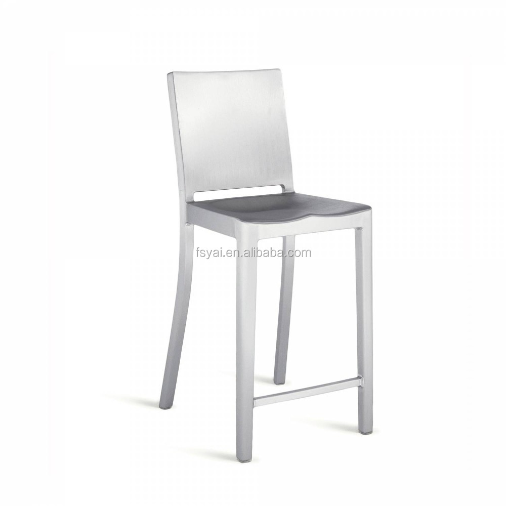 Fashionable Style Square High Back Polishing Modern Stainless Steel Dining Hudson  Chair