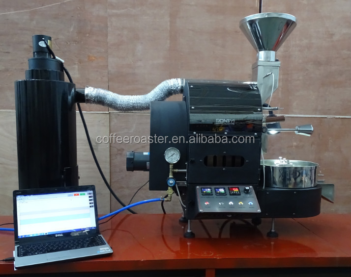 Dongyi 2kilo Coffee Roaster Electric Gas Roasting For Shop With Data