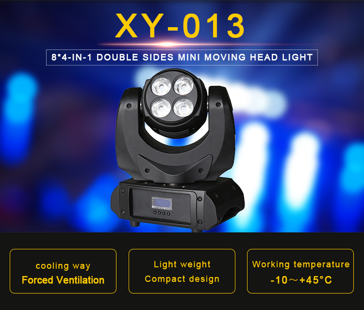 cheap led stage lighting rgbw 8*4-1N-1 Double sides mini moving head light price in india