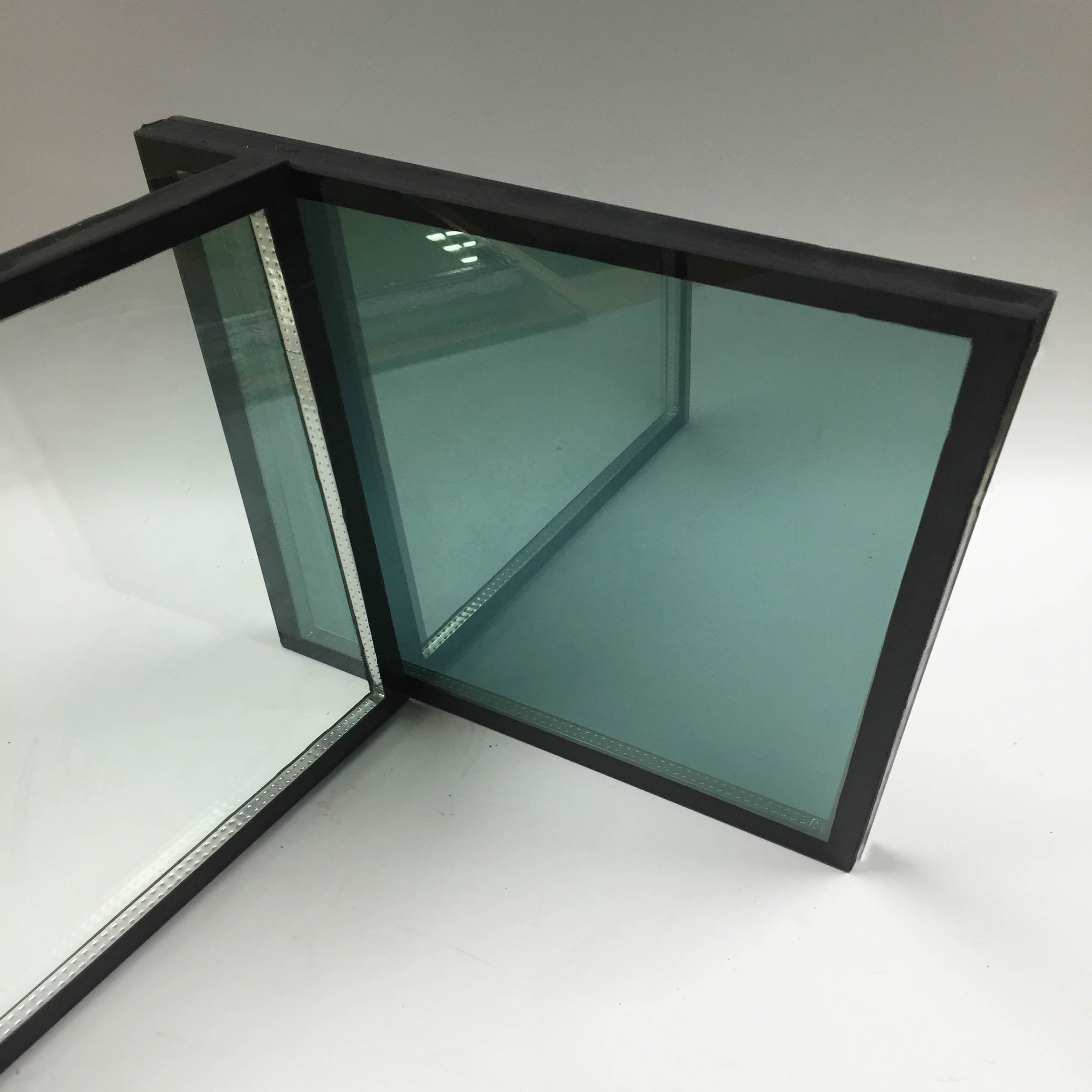 Tempered low e double glazing igu glass curtain wall