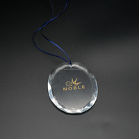 Decorating Customized Clear Christmas Glass Oval Flate Tree Ornament