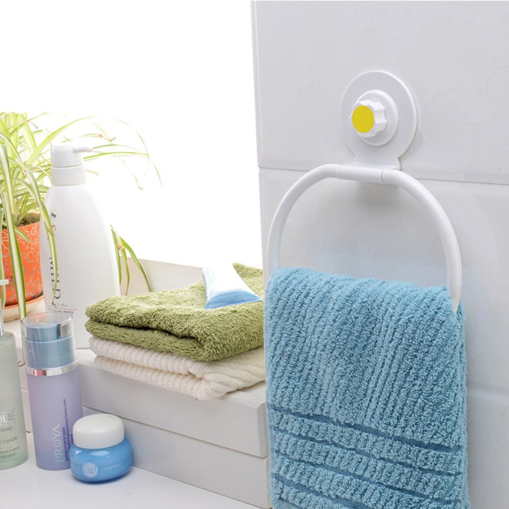 trace-free suction cup hook/ towel ring paper holder/Kitchen bathroom paper towels toilet paper holder-hook/ hanging rags hook-A