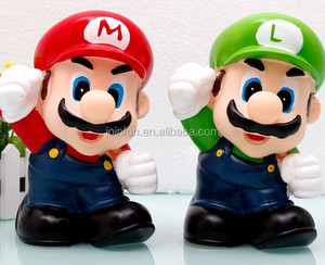 cute super mario custom make coin money saving bank,plastic money saving bank for kids,oem custom money saving bank