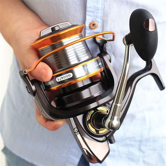 lizard fishing 12+1bb lj9000 left/right hand mirror painting color, Fishing Reels