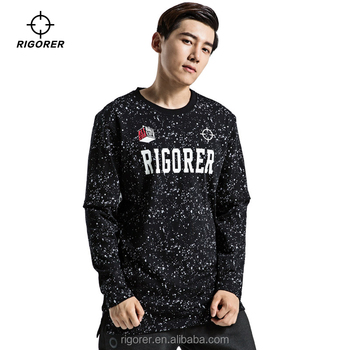 Inventory Wholesale Sports Oversized Sweatshirt No Hood Casual Fashion Crew Neck Sweatshirt for Men