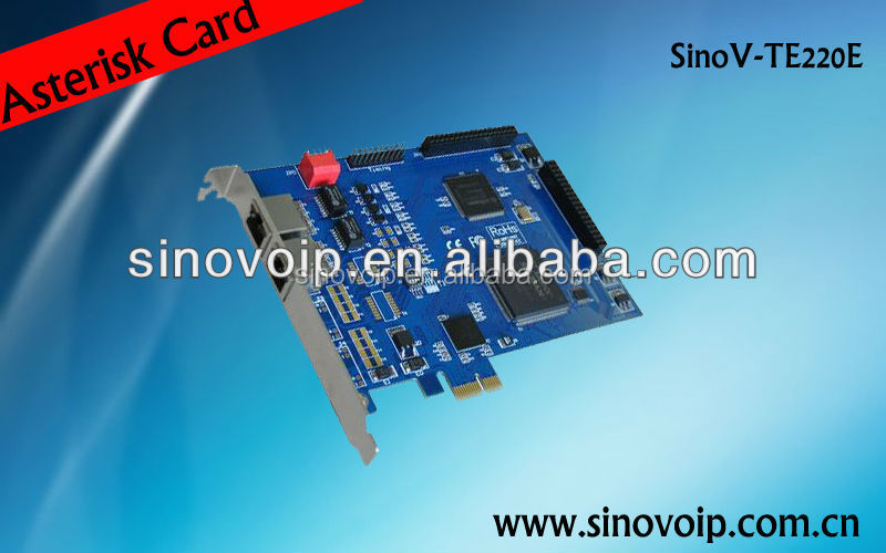 Hot Sale 4 E1 PCI-E digital card with EC module