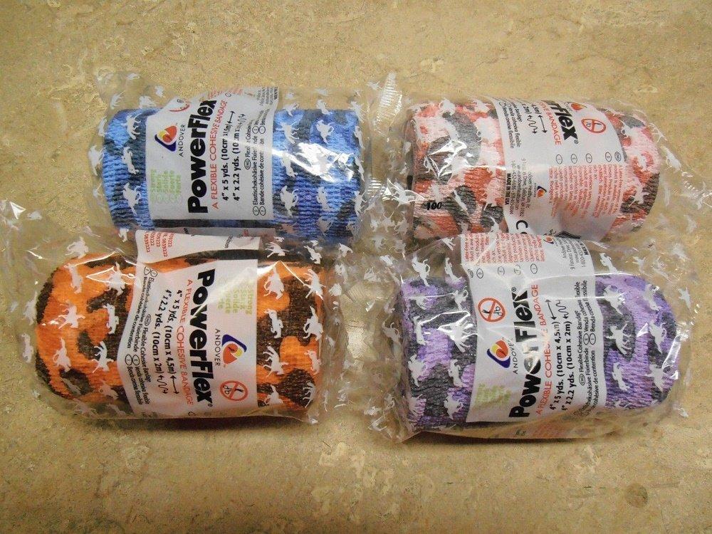 Powerflex Self Adhering Cohesive Bandage Vet Wrap Horse First Aid 10 Pack