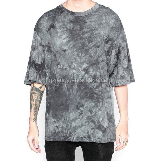 Streetwear Kpop T Shirt Men Hip Hop Fashion Tie Dye T-shirt Men's Vintage Rock Oversized Tops Tees